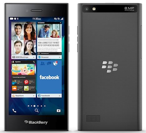 BlackBerry Leap được trang bị hình HD 5 inch có độ phân giải 1280 x 720 pixel, mật độ điểm ảnh 294 ppi
