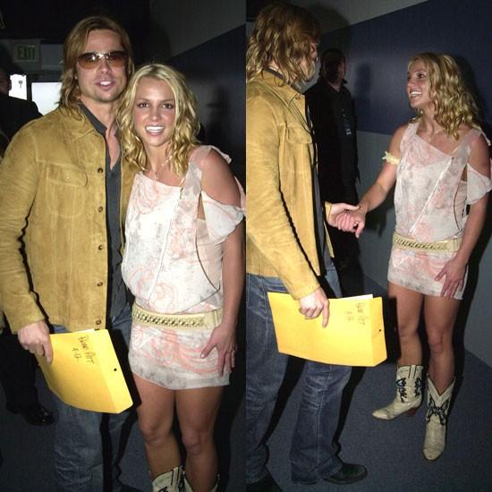 Britney Spears và lần đầu tiên gặp Brad Pitt cách đây 10 năm.