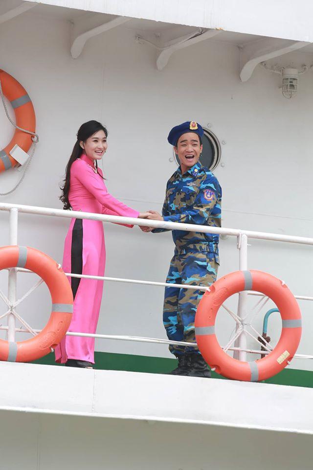 MC Thanh Huyền và diễn viên Duy Nam