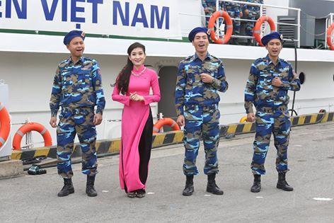 Tiết mục trình diễn của các chiến sĩ cảnh sát Biển