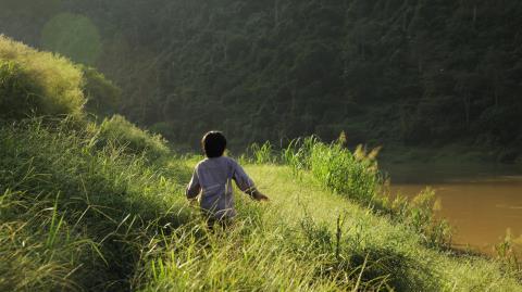 Diễn viên đóng vai Cá, 6 tuổi, được chọn từ Trung tâm bảo trợ trẻ mồ mồ côi