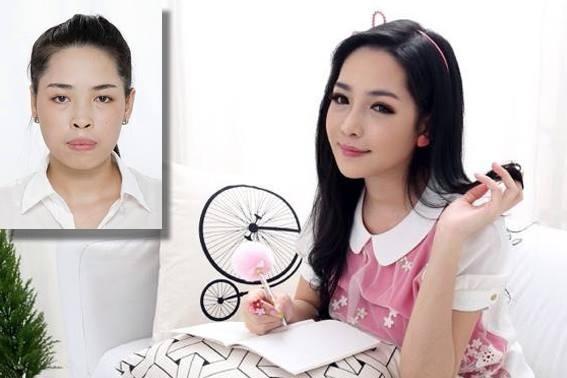 Vũ Thanh Quỳnh trước và sau khi tham gia chương trình.