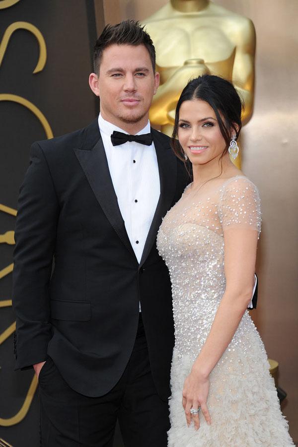 Channing xuất hiện bảnh bao bên người vợ Jenna ở Lễ trao giải Oscar 2014.