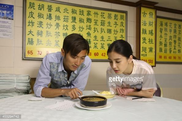 Tạ Đình Phong và Angelababy trong một chương trình của Chef Nic.