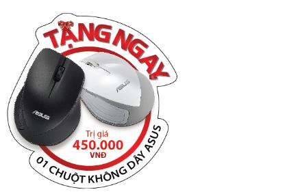 Từ 10/6-30/6, Khách hàng khi mua ASUS ZenBook UX305 hoặc ASUS Transformer Book T300 CHI sẽ được tặng chuột không dây cao cấp trị giá 450,000 VNĐ