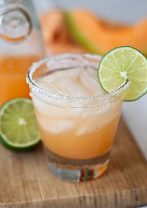 Cocktail Cantaloupe Margaritas