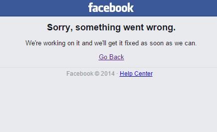 Thông báo của Facebook hiển thị khi người dùng đăng nhập vào trang mạng xã hội