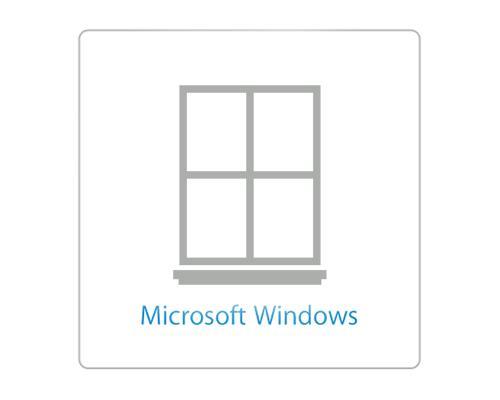 Logo của hệ điều hành Windows trên trang chủ iCloud