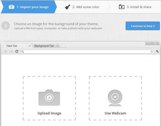 Người dùng có thể chọn ảnh từ thiết bị của mình để tải lên hoặc sử dụng Webcam để chụp hình