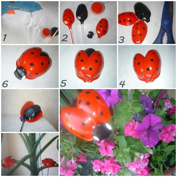 Hoặc hình côn trùng thú vị cho chậu cây, chậu hoa nhà bạn.