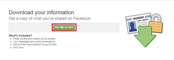 Chọn Start My Archive