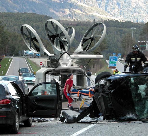 Chiếc xe cứu thương bay giúp tránh tình trạng tắc đường tại các thành phố lớn