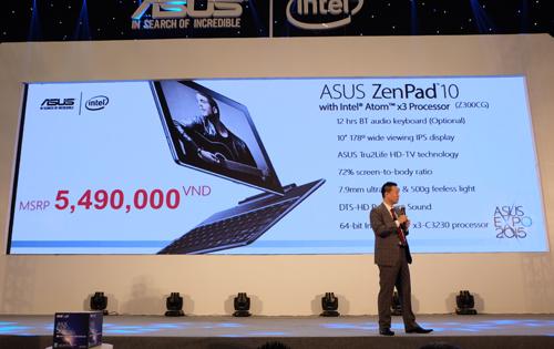 Mẫu máy tính bảng ZenPad 10 sẽ được bán với giá 5.490.000 VNĐ