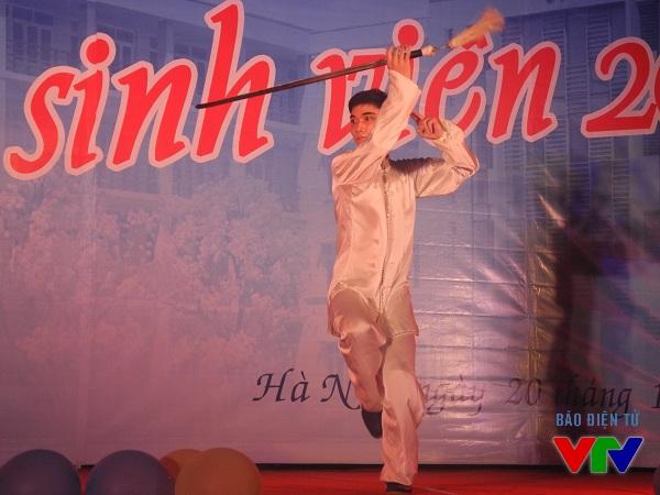 Những màn múa võ Wushu mang đến sự thích thú và tinh thần thượng võ cho các sinh viên