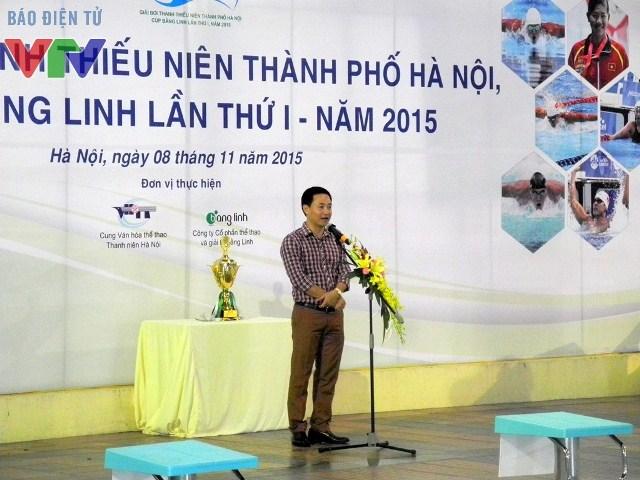 Đồng chí Trần Anh Tuấn, Phó Bí thư Thành đoàn Hà Nội phát biểu tại lễ khai mạc