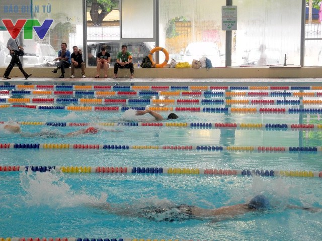 Có gần 200 VĐV tham gia dự giải đấu tại 2 nội dung 50m và 100m