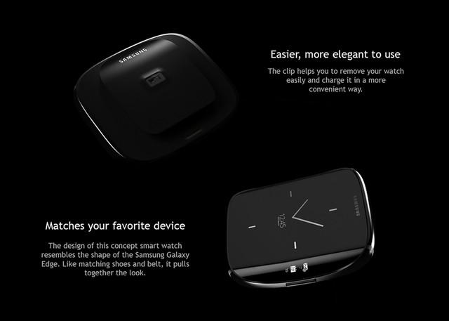 Edge Watch sở hữu màn hình cong mô phỏng thiết kế màn hình của siêu phẩm Samsung Galaxy S6 Edge