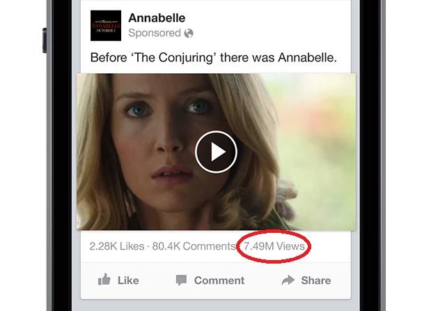 Hiển thị lượt xem của video đăng tải trên Facebook