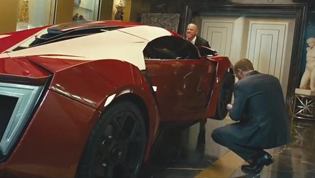 W Motors Lykan Hypersport trong một cảnh quay
