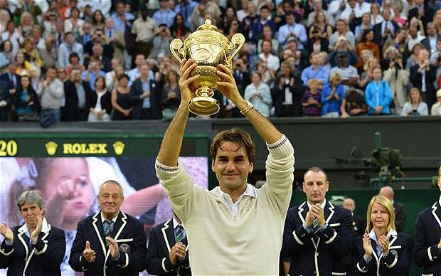 Roger Federer với chức vô địch Wimbledon