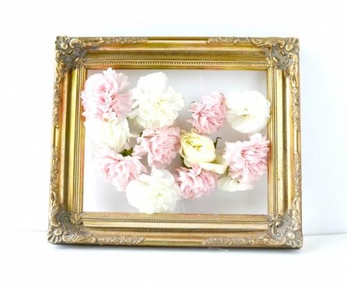 Tận dụng khung tranh, ảnh và hoa khô để tạo thành tranh, ảnh floral độc đáo.