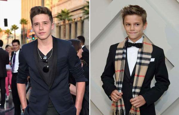 Brooklyn và Romeo Beckham - hai quý tử của David Beckham và Victoria đều là những người mẫu sáng giá. Cậu cả Brooklyn đã chụp ảnh cho nhiều tạp chí trong khi cậu thứ Romeo làm gương mặt đại diện cho hãng thời trang Burberry từ tháng 12/2012.