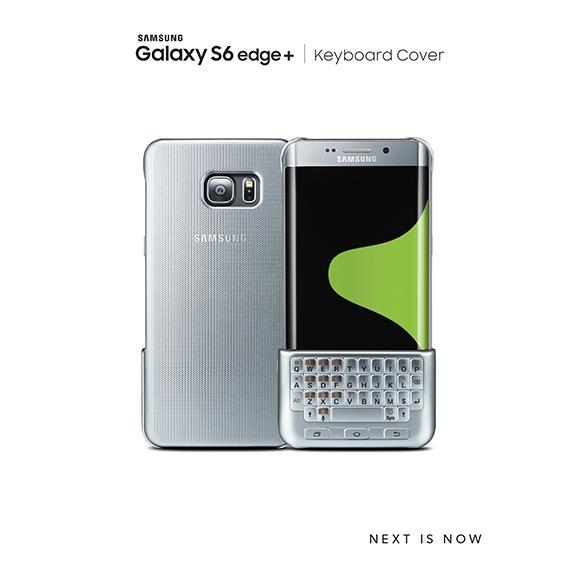 Phụ kiện bàn phím QWERTY cùng ốp lưng của Galaxy S6 Edge Plus