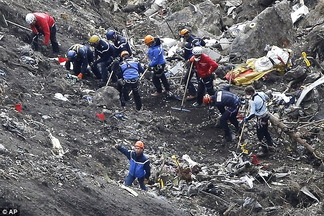 Khu vực máy bay Germanwings gặp nạn tại vùng núi Alps, nước Pháp.