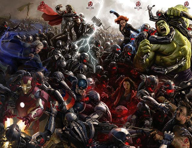 Đoàn quân của Ultron có số lượng rất đông