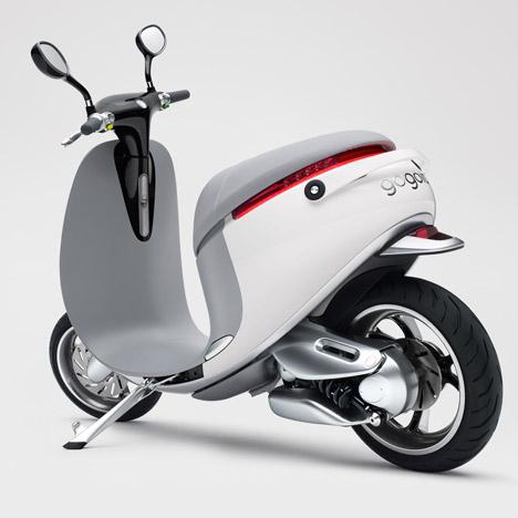 Smartscooter được thiết kế với kiểu dáng trang nhã