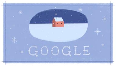 Doodle chào mừng kỳ nghỉ lễ Giáng sinh năm 2013 của Google
