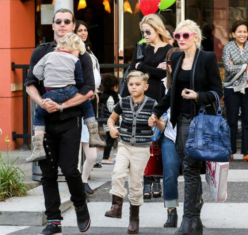 Gia đình của Gwen Stefani và Gavin Rossdale khi còn yên ấm.