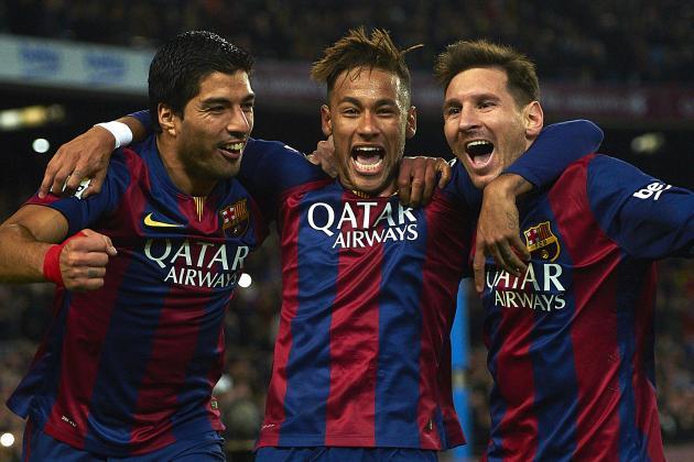 Barcelona đang thăng hoa với bộ 3 tấn công Neymar - Messi - Suarez