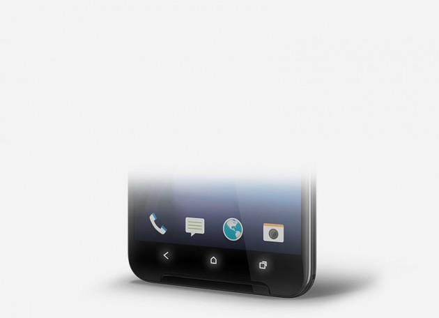 HTC vẫn trang bị bộ 3 phím điện dung dưới tấm nền màn hình của HTC One X9