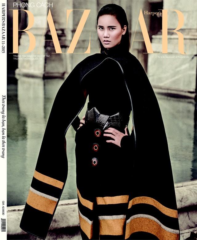 Với chiến thắng này, Hương Ly trở thành gương mặt trang bìa cho tạp chí Harpers Bazaar Việt Nam