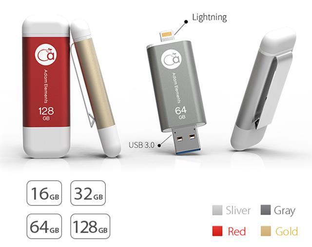 iKlips có 4 phiên bản dung lượng với 4 phiên bản màu sắc khác nhau