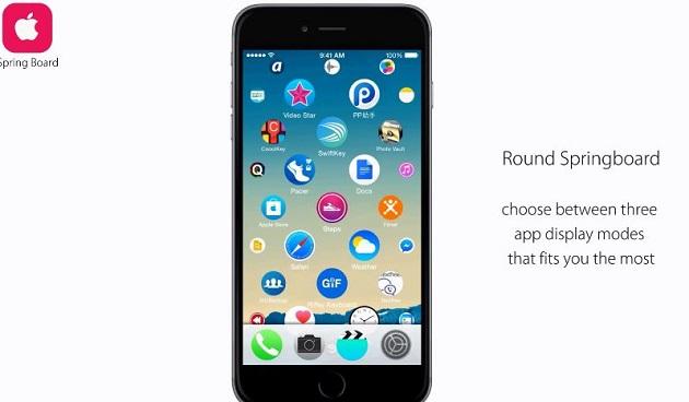 Người dùng có thể chọn lựa giữa 3 chế độ hiển thị ứng dụng