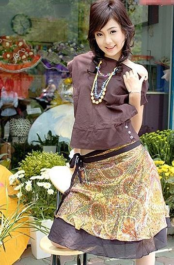 BTV Mai Ngọc là người mẫu của tạp chí Hoa học trò khi học THPT
