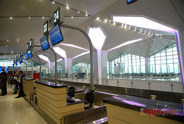 Nhà ga sân bay mới lịch sự, sang trọng. (Ảnh: báo Nghệ An)