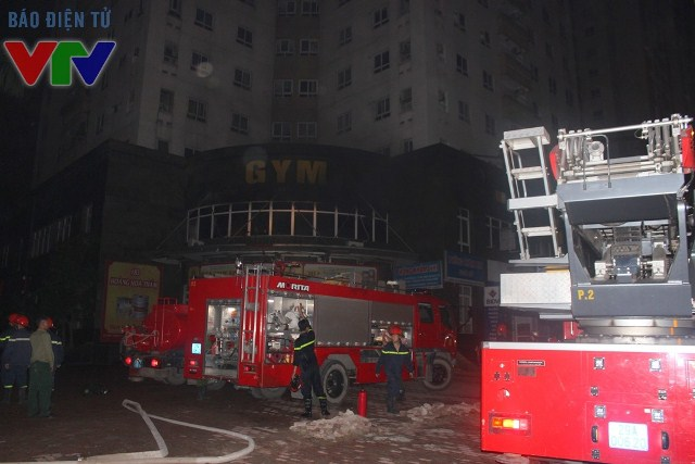 Có 5 xe cứu hỏa tới dập tắt đám cháy
