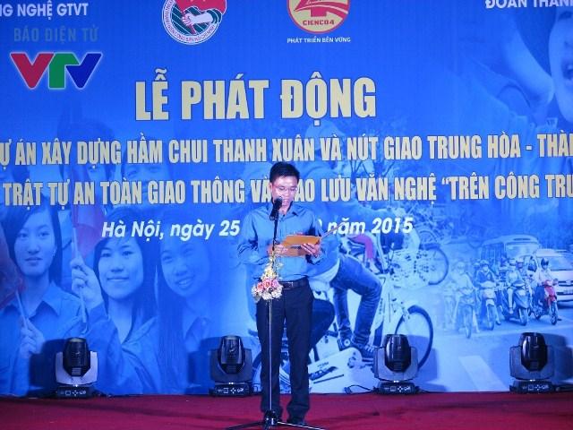 Đồng chí Nguyễn Thanh Tưởng - Phó Bí thư Đoàn thanh niên Bộ Giao thông vận tải thông qua nội dung chương trình phối hợp.