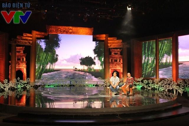 Nhiều chi tiết quen thuộc của làng quê Việt Nam được đưa vào sân khấu Vẻ đẹp Việt