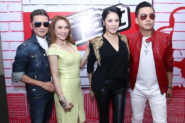 Bốn HLV của Giọng hát Việt 2015