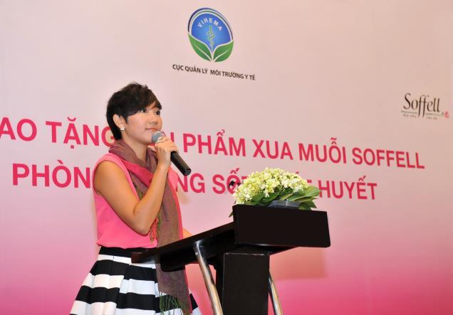 Bà Carol Lai (Quản lý thương hiệu Soffell toàn vùng tập đòan Enesis)