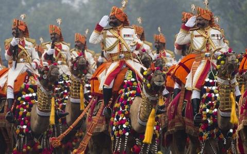 Lễ kỷ niệm lần thứ 66 Ngày Độc lập Ấn Độ diễn ra hoành tráng (ảnh: AFP)