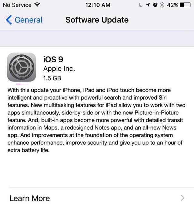 Apple chính thức phát hành iOS 9
