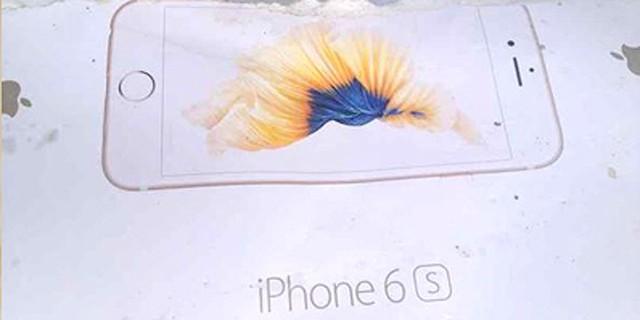 Hình ảnh thực tế vỏ hộp của chiếc iPhone 6S