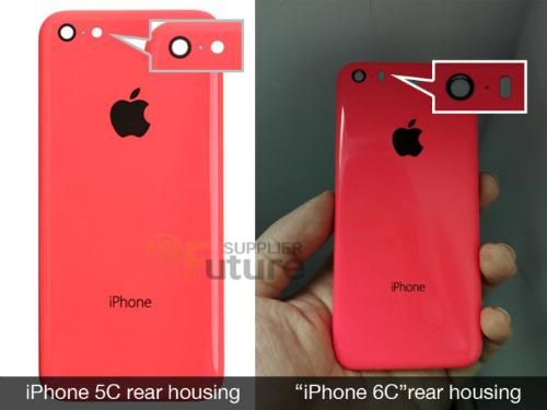 Khe hở dành cho Flash trên iPhone 6C được thiết kế rộng hơn so với iPhone 5C