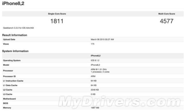 Kết quả bài kiểm tra hiệu năng bộ vi xử lý của iPhone 6S