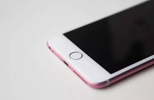 Mặt trước của chiếc iPhone 6S màu hồng